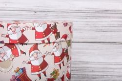 Набор подарочные коробок из 3 шт - Цилиндр НГ №25 Дед Мороз d=25, h=25см Пин25НГ-13