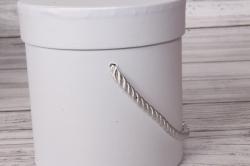 Набор подарочные коробок из 3 шт - Цилиндр перламутр белый d=17, h=17см В435