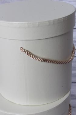 Набор подарочные коробок из 3 шт - Цилиндр перламутр шампань d=17, h=17см В435