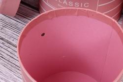 Набор подарочные коробок из 6 шт - Цилиндр полоски розовый  d=23, h=24см  В163