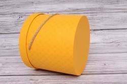 Набор подарочные коробок из 3 шт - Цилиндр ромбик желтый  d=18, h=17см  В160