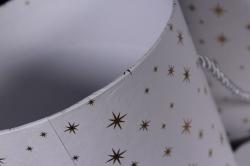 Набор подарочные коробок из 3 шт - Цилиндр Звёзды мелкие белый