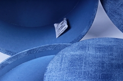 Набор подарочные коробок из 3 шт - Круг джинса голубая К207