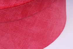 Набор подарочные коробок из 3 шт - Круг джинса красная  К207