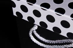 Набор подарочные коробок из 3 шт - Куб крышка Горох серебро Арт.745