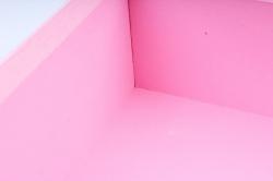 Набор подарочные коробок из 3шт - Квадрат ткань розовый  К504