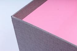 Набор подарочные коробок из 3шт - Квадрат ткань серый  К504
