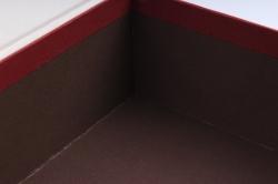 """Набор подарочные коробок из 3шт - Прямоугольник книга """"Круги"""" бордовый  К505"""