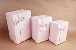 Набор подарочные коробок из 3шт - Прямоугольник Мрамор розовый   В821