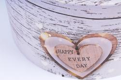 """Набор подарочные коробок из 3шт -  Цилиндр """"Сердца""""   SY2247-310"""
