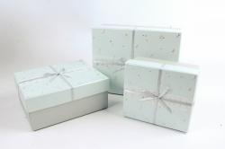 Набор подарочные коробок из 3шт -  Прямоугольник Созвездия голубой  К493