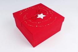 Набор подарочные коробок 1шт.- Квадрат Млечный путь красный  В822