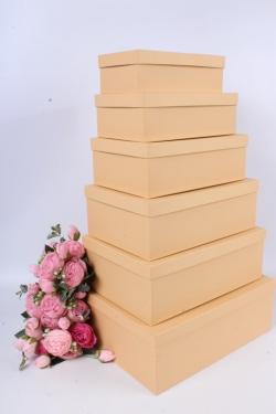 Набор подарочных коробок №81 из 6шт - Прямоугольник Карамель Пин81КТ