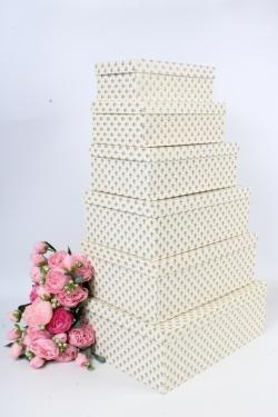 Набор подарочных коробок №81 из 6шт - Прямоугольник Лилии синие Пин81ЛС