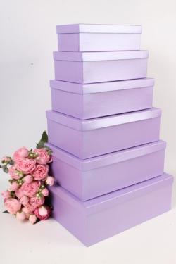 Набор подарочных коробок №81 из 6шт - Прямоугольник Сирень Пин81СР