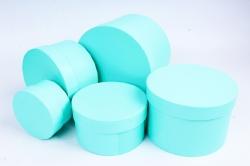 Набор подарочных коробок (5 шт) - Цилиндр малый Салатовый  Пин80-1Сал
