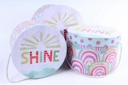 Набор подарочных коробок (3 шт) - Цилиндр SHINE W9920  (М)