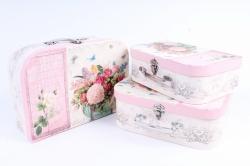 Набор подарочных коробок (3 шт) - Сундучок букет for you     W9998  (М)