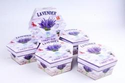 Набор подарочных коробок (6 шт в уп) - Шестигранник Лаванда в лейке