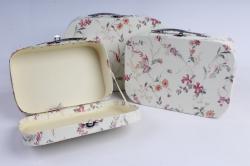 Набор подарочных коробок 3шт - Чемодан   крем  (Н)  8547