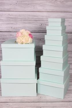 Набор подарочных коробок из 10 шт -  № 71 Квадрат Салатовый 28,2см*28,2см*15см  Пин71Са