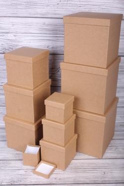 """Набор подарочных коробок из 10 шт - КУБ """"КРАФТ"""" 26,5*26,5см  SY601-KRAFT"""