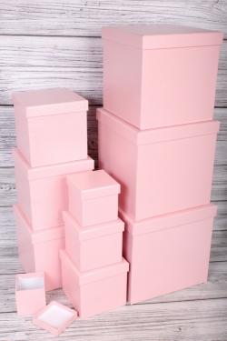 """Набор подарочных коробок из 10 шт - КУБ """"Розовый Металл"""" 26,5*26,5см  SY601-A33G012"""