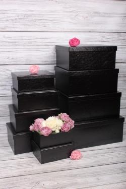 """Набор подарочных коробок из 10 шт - Прямоугольник """"Чёрный"""" 37*29*16см   SY605-A33G008"""