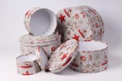 """Набор подарочных коробок из 10шт - КРУГ """"Морские звезды"""""""