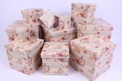 """Набор подарочных коробок из 10шт - КУБ  """"Часы"""" 26,5*26,5*26,5см  SY601-1204"""