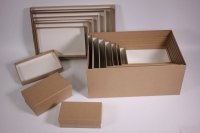 Набор подарочных коробок из 10шт (Прямоугольник) глубокие №10 - КРАФТ (Код Пин10-К)