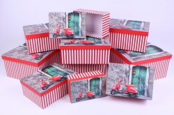 """Набор подарочных коробок из 10шт - Прямоугольник """"Мотороллер""""   SY605-1238"""