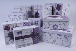 Набор подарочных коробок из 10шт -  Прямоугольник Романтик   К109