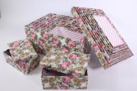 Набор подарочных коробок из 10шт (Прямоугольник) Розы