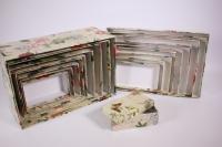 Набор подарочных коробок из 10шт (Прямоугольные глубокие №10) Цветы Ретро Пин10ЦР