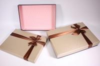 Набор подарочных коробок из 2шт (Прямоугольник) под рубашку - бежевый