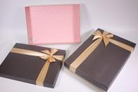 Набор подарочных коробок из 2шт (Прямоугольник) под рубашку - коричневый