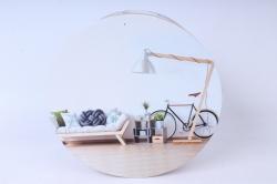 набор подарочных коробок  из 3 шт - цилиндр интерьер с велосипедом  sy2245-1357