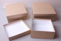 """Набор подарочных коробок из 3 шт. """"Квадрат №75 КРАФТ"""""""