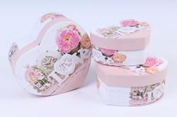 Набор подарочных коробок  из 3 шт - Сердца LOVE   SY2235-233