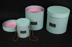 Набор подарочных коробок из 3шт - Б Цилиндр Мята