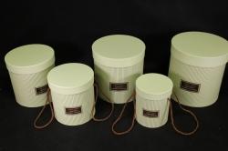 Набор подарочных коробок из 3шт - Б Цилиндр Шампань