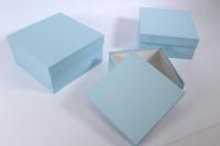 Набор подарочных коробок из 3шт (Квадрат №75) Голубой Пин75Гол