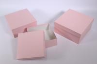 Набор подарочных коробок из 3шт (Квадрат №75) Розовый Пин75Роз