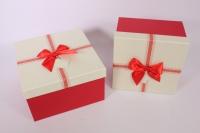 Набор подарочных коробок из 3шт.- Квадрат - красная крышка