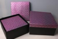 """Набор подарочных коробок из 3шт. """"Квадрат, крышка со стразами""""  37144"""