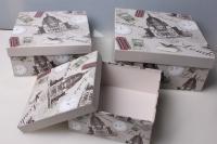 """Набор подарочных коробок из 3шт. """"Квадрат, London"""" 37147"""