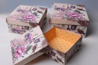 """Набор подарочных коробок из 3шт. """"Квадрат, Paris"""" 37146"""
