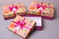 """Набор подарочных коробок из 3шт. """"Прямоугольник Цветы поляна"""""""