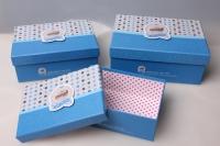 """Набор подарочных коробок из 3шт. """"Прямоугольник, голубая"""" 37155"""